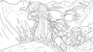 200227 Sandworm and soldier of the future Hernn by HERNAN34