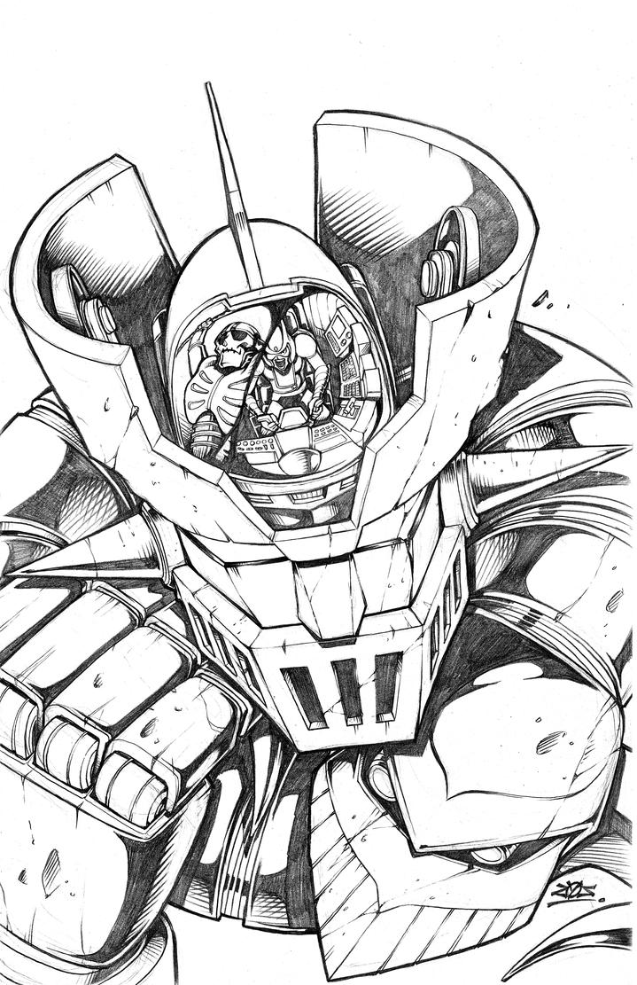 Mazinger z coloring pages - Mazinger z by dovianax