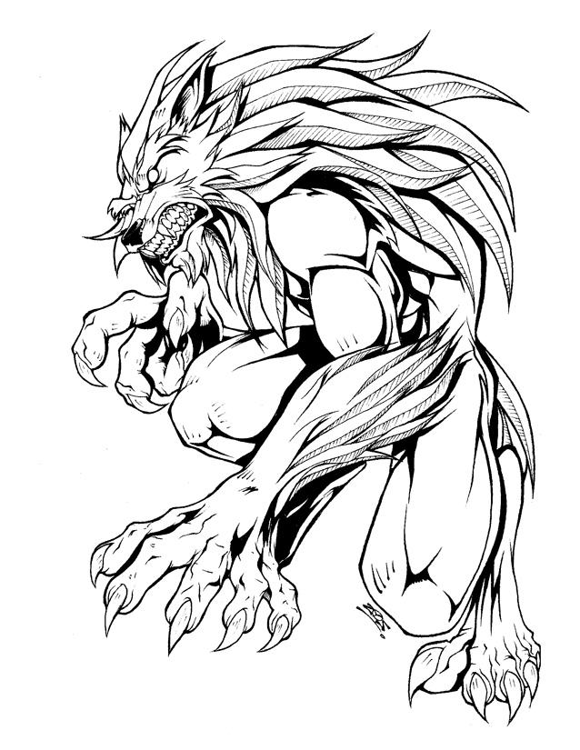 Werewolf Vs Vampire Coloring Pages