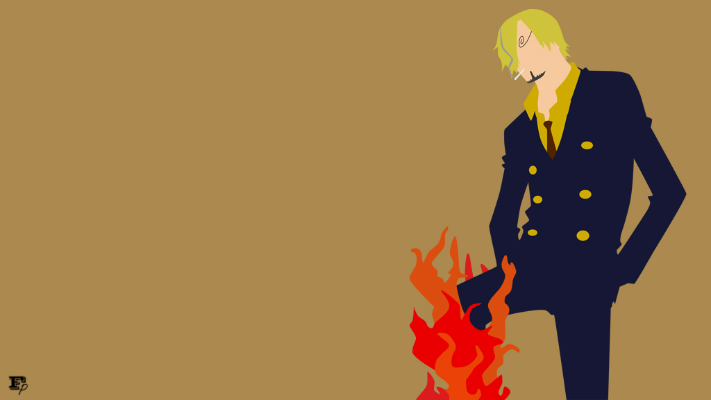 One Piece Black Leg Sanji Minimalist By MrRobotboy