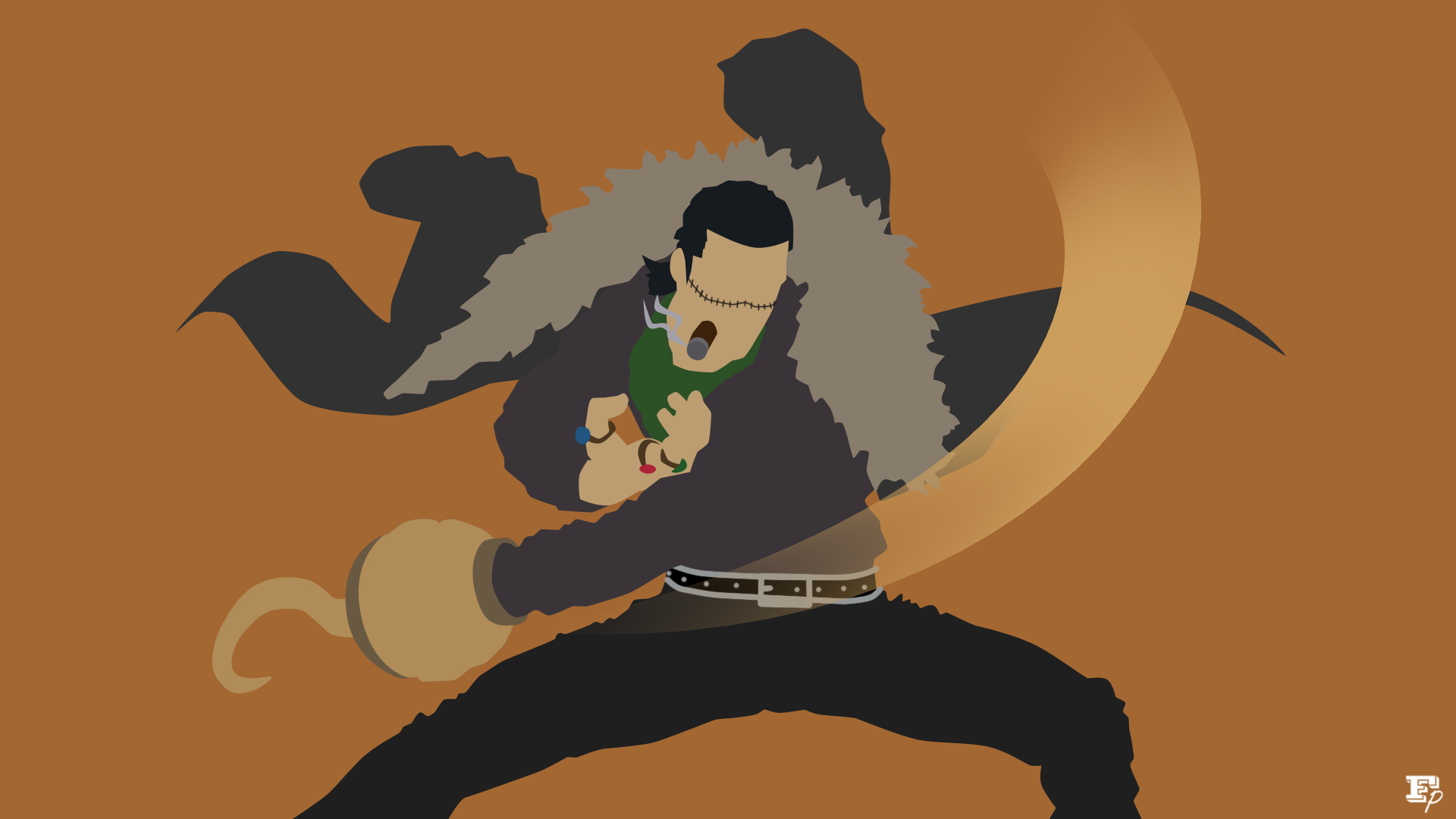 Onepiece crocodile minimalist by mrrobotboy on deviantart for Minimalist art pieces