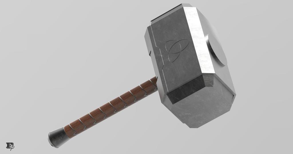 thor s hammer mjolnir render by mrrobotboy on deviantart