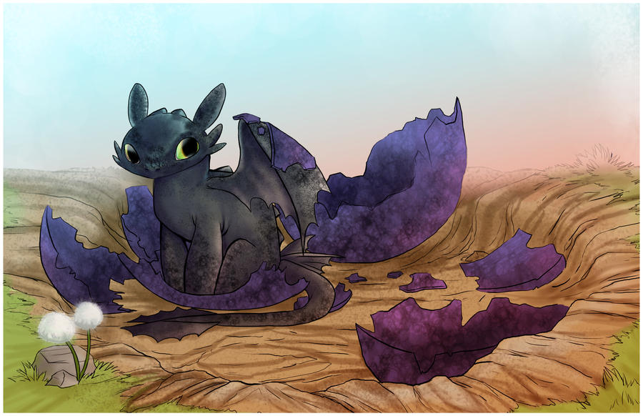 Toothless Hatchling by Spoonful0fcats on DeviantArt