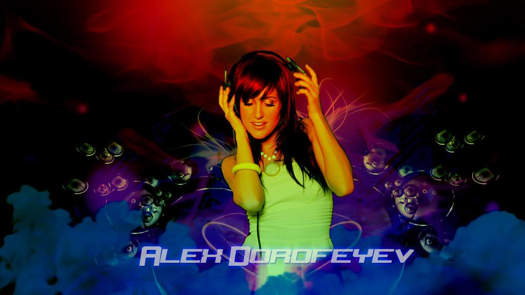 This is REAL GRAPHIC DESIGN KIDDIES Custom_wallpaper___girl_music___alex_dorofeyev_1_by_alexdorofeyev-d6480nf