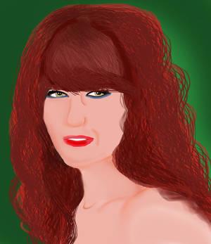 Digital Portrait Of Florence Welch