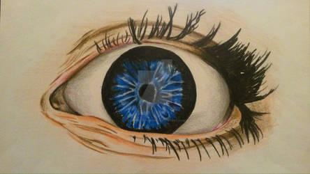 Colored Pencils Eye