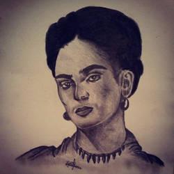 Portrait Of Frida Kahlo by Evanescentgreen