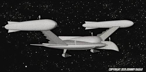 Star Trek 1955 - Romeulan Ship Scale