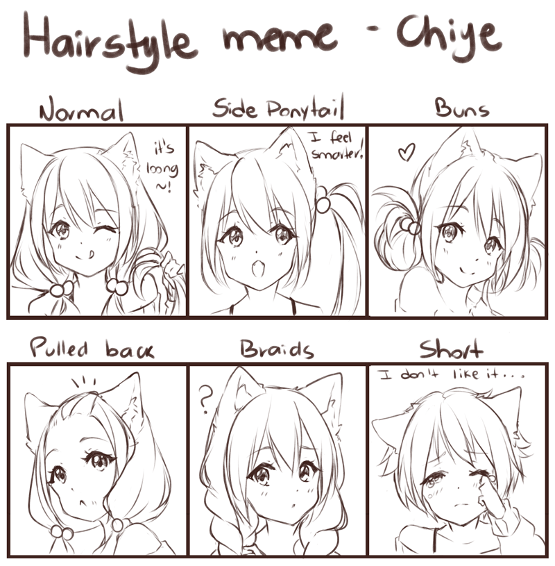 Hairstyle Meme Oc Chiye By Hyan Doodles On Deviantart