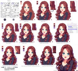 Hyan Style - Shading curly brown hair