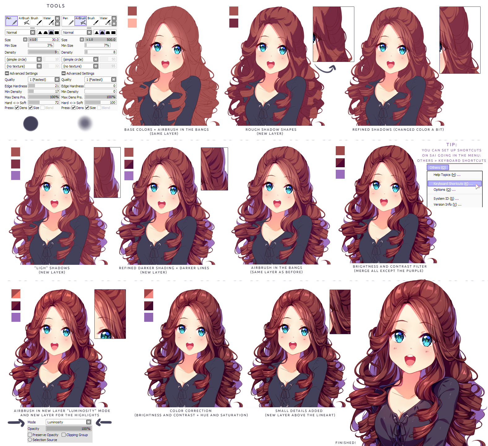 Hyan Style Shading Curly Brown Hair By Hyan Doodles On Deviantart