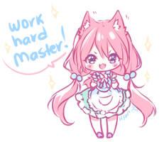 Work Hard Master! by Hyan-Doodles