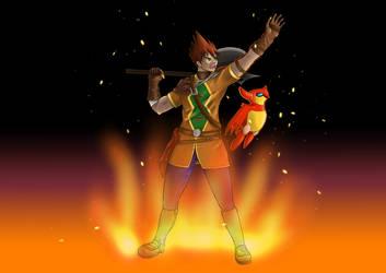 Garet [Firey Warrior] 2 Summon by BombomDubbie