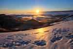 Sunburst over the Winter Land