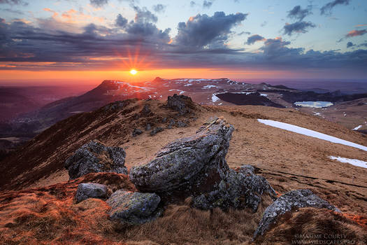 Sunset from the Puy de la Tache