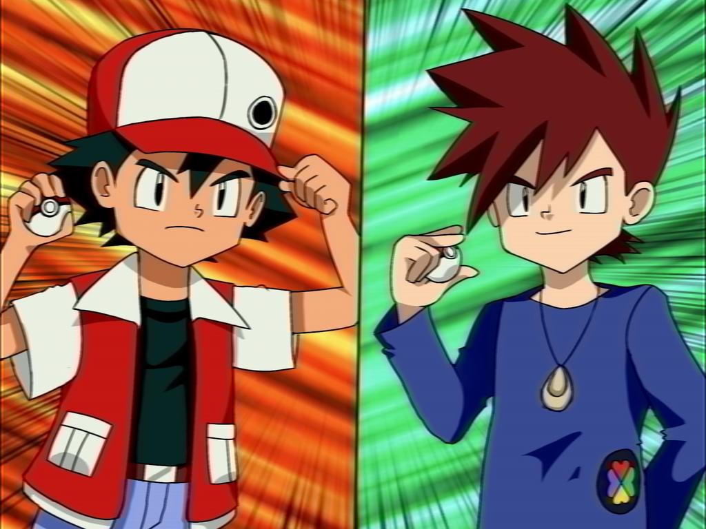 Indigo League Anime Red Vs Blue By Rinkusonic41 On Deviantart