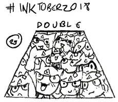 Inktober 2018 - 29: Double