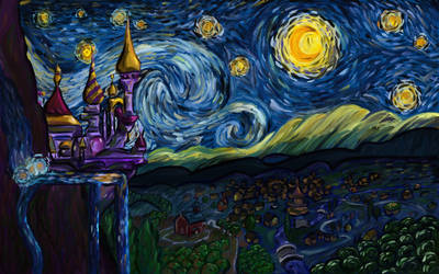 A Starry Night in Equestria by WingFlyte