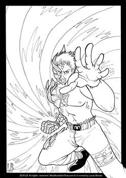 Manga Battle Scars - Ink