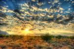 Sunrise over the Desert by CeeThruMyEyes