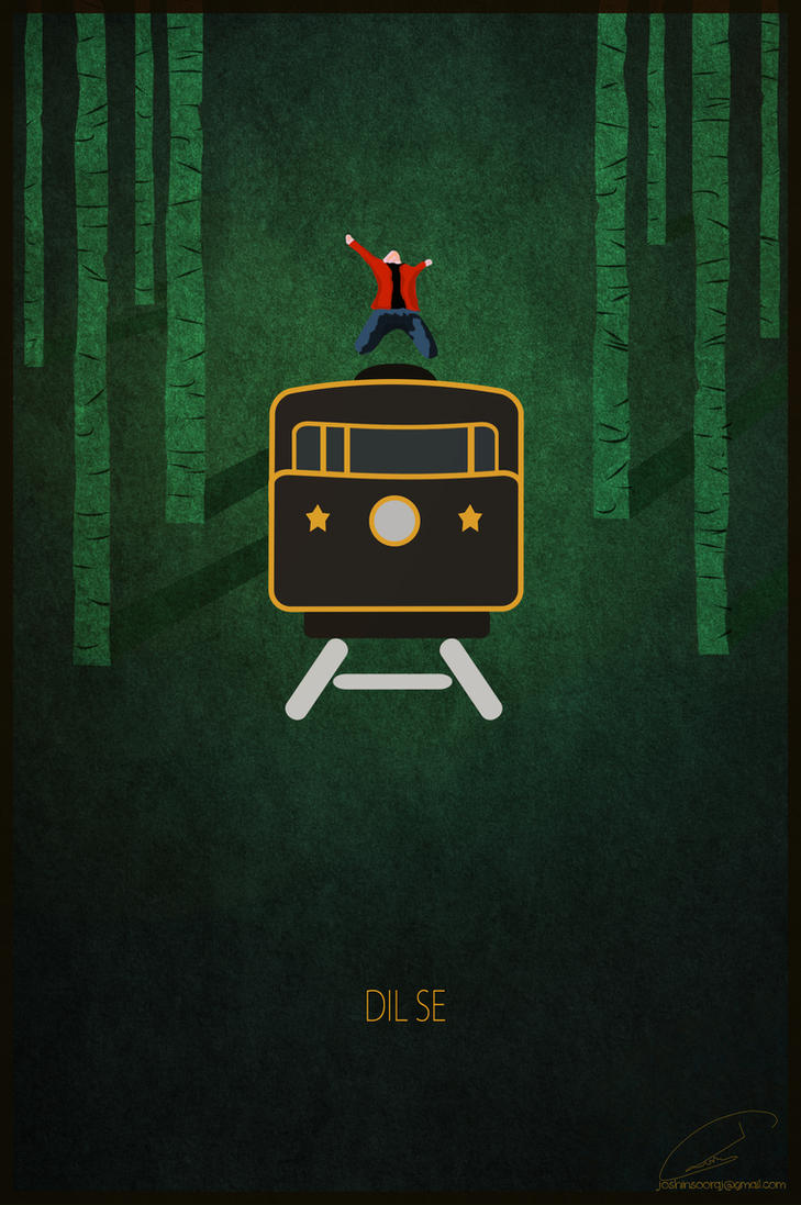 dil se bollywood movie minimal poster by joshin1996 on