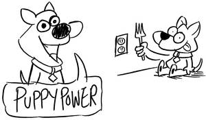 Puppy Power! by bakertoons