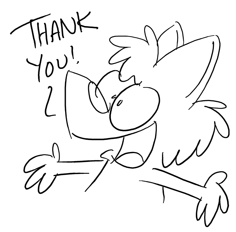 Thank You by bakertoons