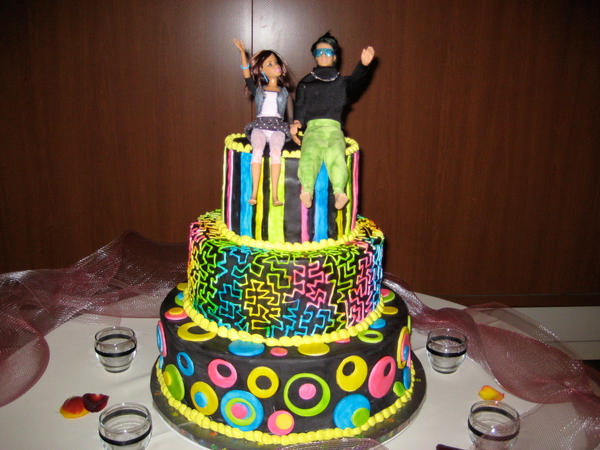 80s wedding cake 80 s themed wedding cake by dontdeconstruct on deviantart 10512