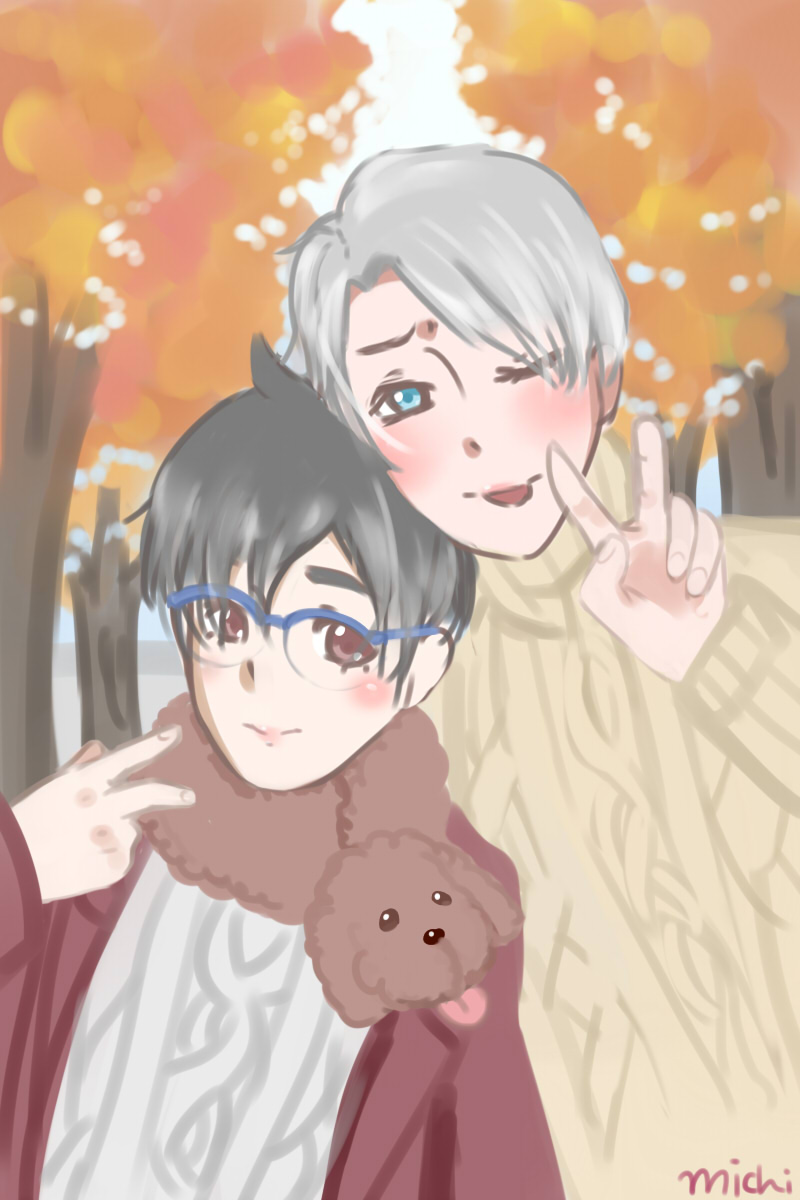 .: Victuuri in Autumn :. by michi-pyon