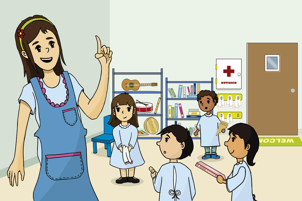 Aula de clases dibujo para libro infantil by joakin100 - Ninos en clase dibujo ...