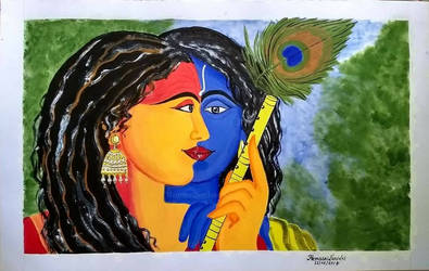 Title:Radha Krishna by HemasriBordoloi