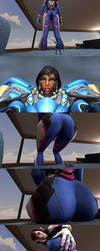 Under Pressure  (Overwatch Giantess) by spedstar623