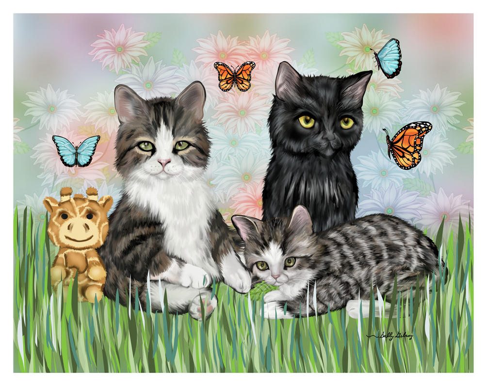 Kiki, Tia and Nemo SGG by sallygilroy