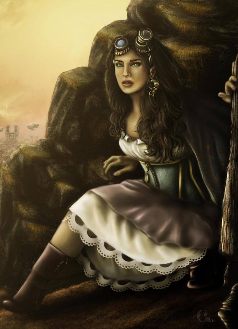 Steampunk Esmeralda by Elenaldarine