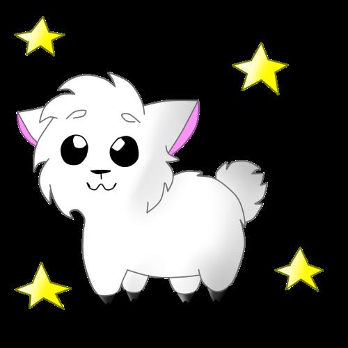 Cute llama by CutieCakie