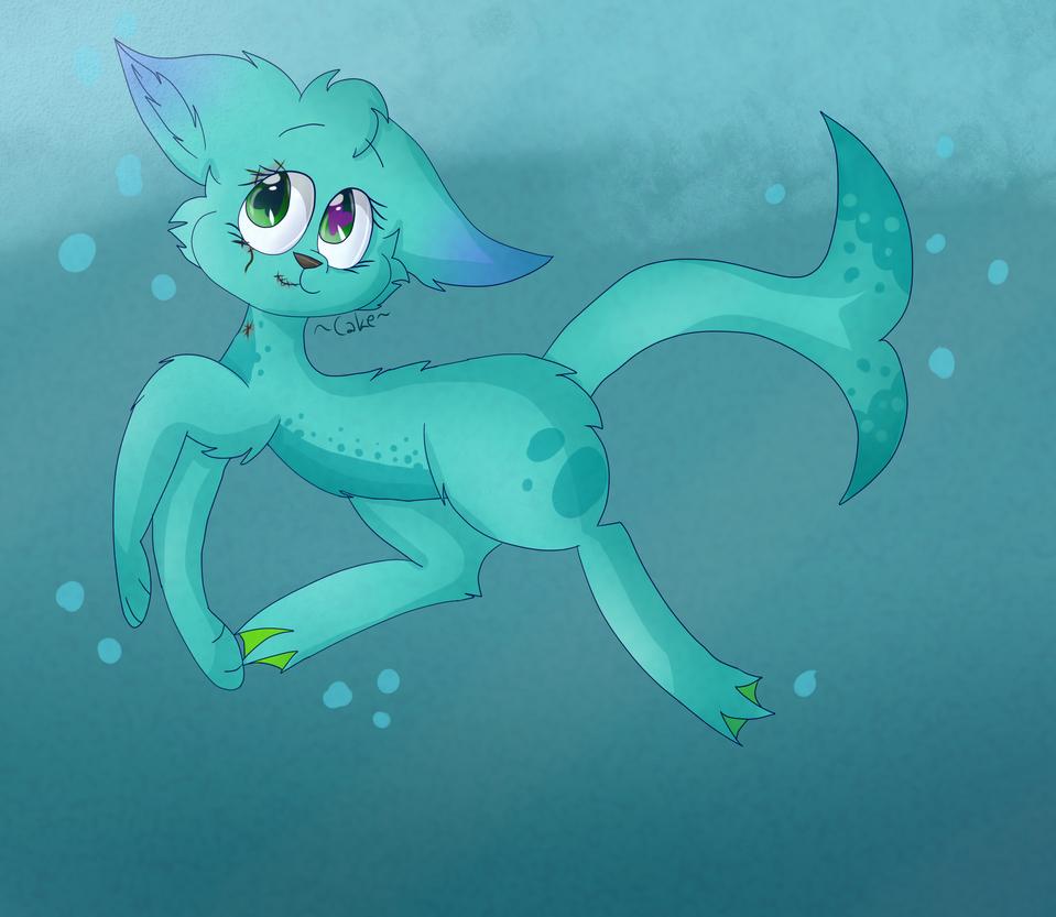 Aqua (Art Trade) by CutieCakie