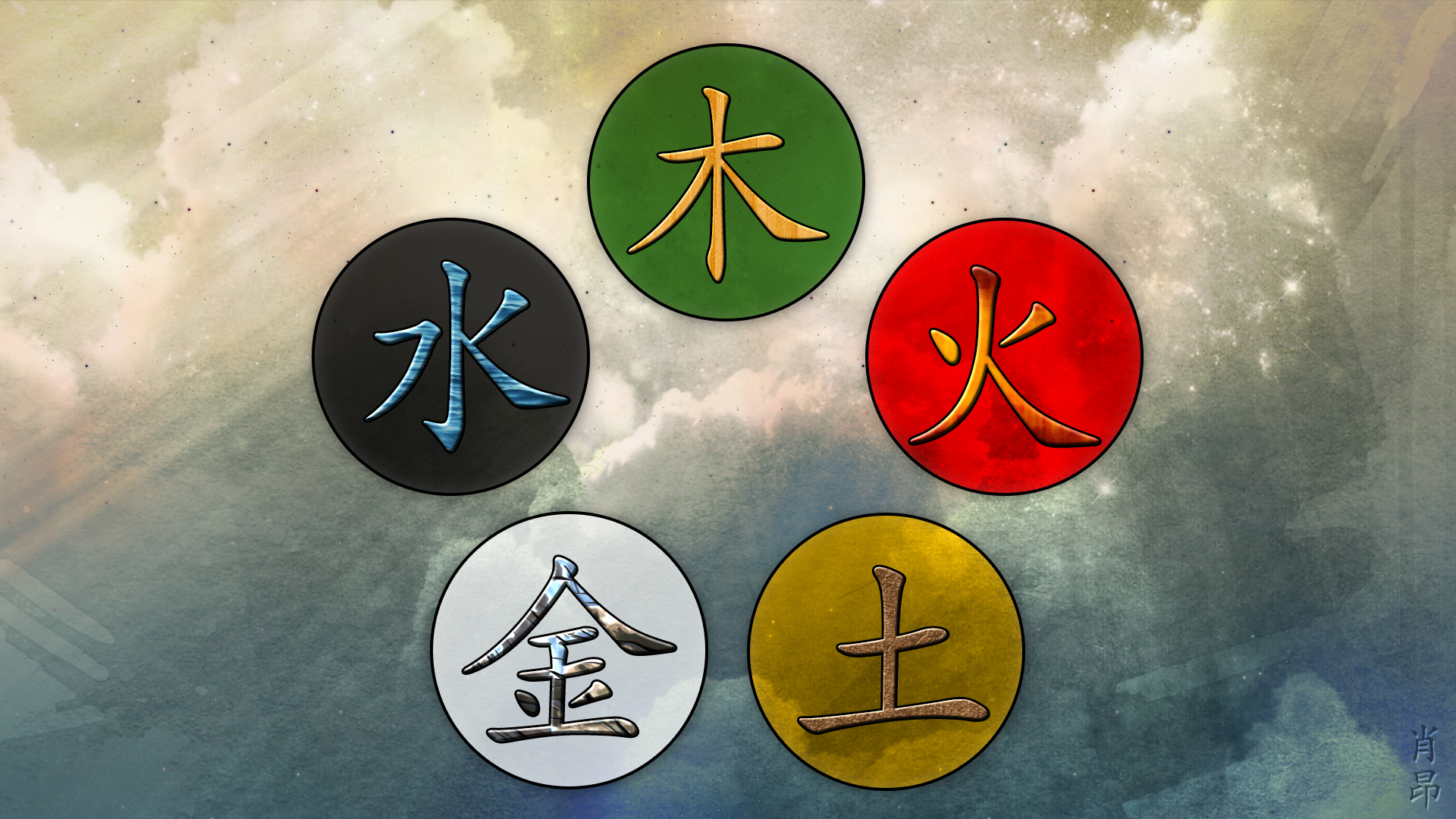 Five Elements Art : Wu xing the chinese elements by shaungsimpson on