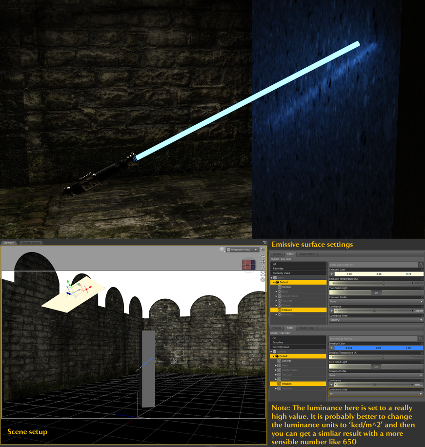 lightsaber-iRay-tests by shaungsimpson