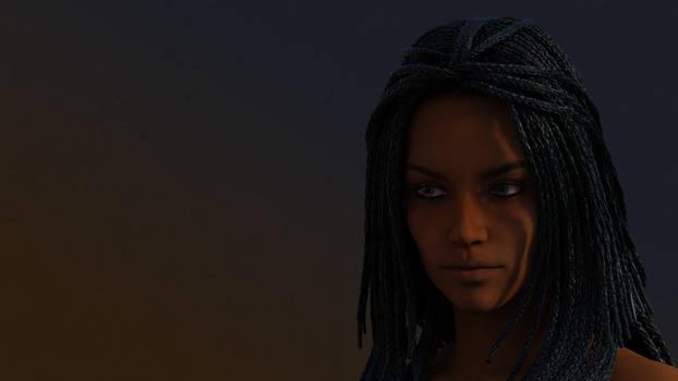 Nyota Medea hair iRay test