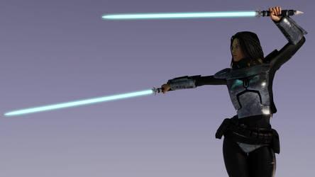 Mando Jedi - Viridian Sabers