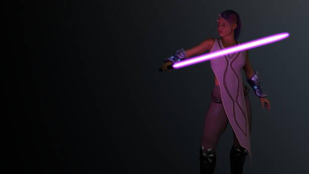 Iridonian Jedi - Purple Saber
