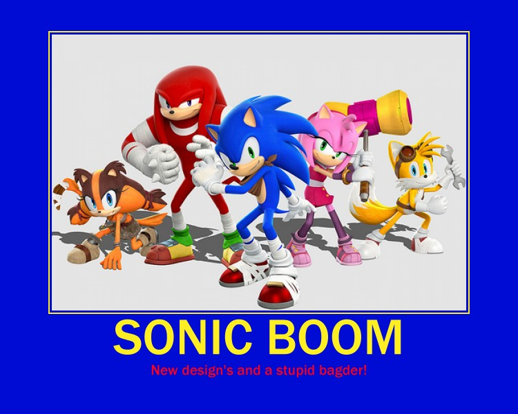 Sonic Boom motivational poster by YoniD3010
