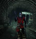 Metro: Last Light Hazard suit cosplay(Action Shot)