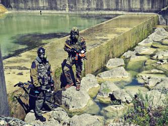 Rocks in the water (S.T.A.L.K.E.R. cosplay) by DrJorus