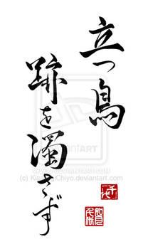 Japanese saying - Tatsu Tori Ato wo Nigosazu