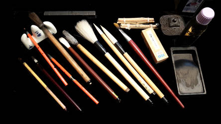My Various Brushes for the Calligraphy by KisaragiChiyo