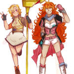 Nora and Yang: Color Palette Swap