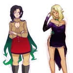 Glynda and Cinder: Color Palette Swap by Sogequeen2550