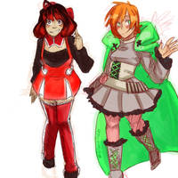 Penny and Ruby Rose: Color Palette Swap by Sogequeen2550