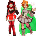 Penny and Ruby Rose: Color Palette Swap
